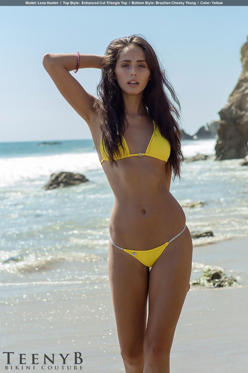 Bright yellow bikini